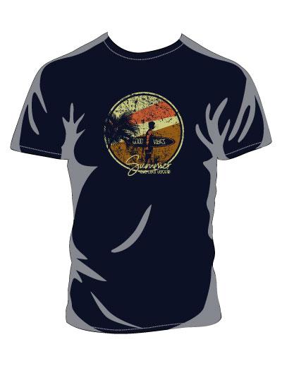 Good Vibes Navy T-shirt