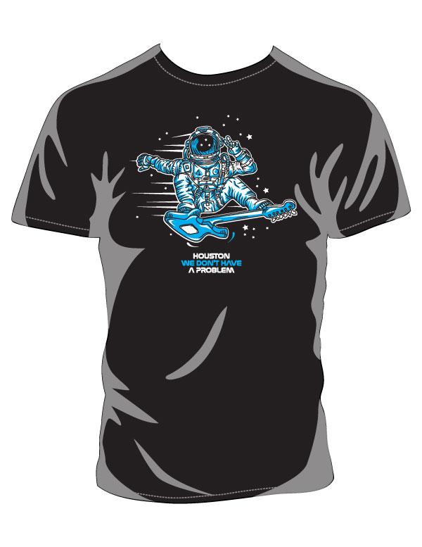 Houston No Problem Black T-shirt