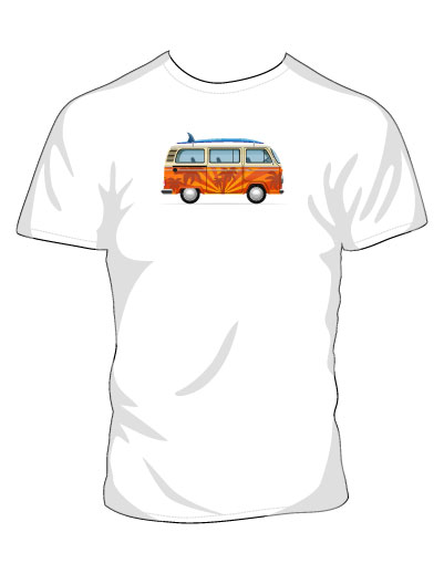 VW Bus White T-shirt